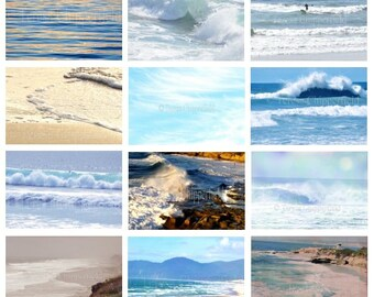 Ocean Photography, Beach Photo Set, Coastal Prints, Seascape Print, Seaside Wall decor, Landscape Photography, Seashore Wall Art,Golden Sand