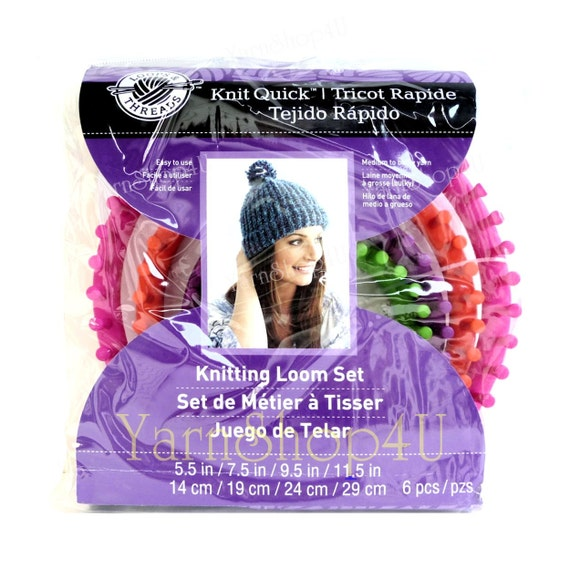 4 Loom Set Loops Threads Knit Quick Knitting Loom Set Includes