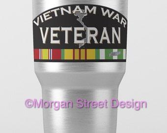 Yeti Vietnam War Veteran Die Cut Vinyl Decal Sticker