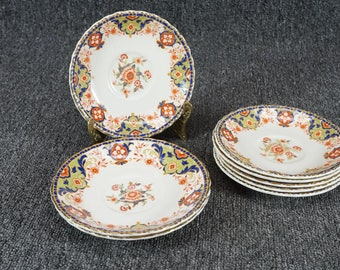 Vintage Set Of 8 Grindley Saucers, Made In England