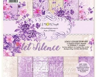 Lemoncraft Violet Silence 12x12 Designer Scrapbook Paper
