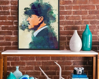 Peaky Blinders Cheif Inspector Campbell Sam Neill Art poster