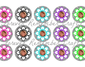 INSTANT DOWNLOAD Flower Photo   1 Inch Bottle Cap Image Sheets *Digital Image* 4x6 Sheet With 15 Images