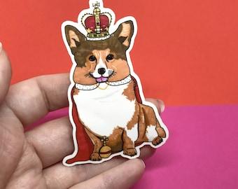 Queenie the Corgi Vinyl Sticker