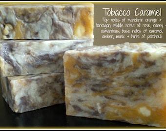 Tobacco Caramel - Rustic Suds Natural - Organic Goat Milk Triple Butter Soap Bar - 5-6oz. Each