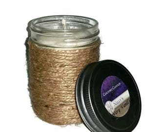 Twinned 8 oz. Natural Soy Wax Jar Candle, Hand-poured 100% Soy Wax Candle, Pick Your Color & Scent (Scents that begin with A THROUGH M)