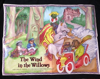 RARE- 1980s The Wind in the Willows Poster