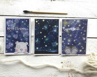 Postales para una tarjeta de Navidad