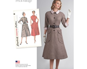 Simplicity Sewing Pattern 8251 Misses' Vintage 1950's One-Piece Dress