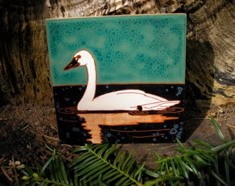 Tundra Swan-CUSTOM ORDER - 4-6 wks production time- Arts and Crafts, Mission style ,birders,kitchen,bath