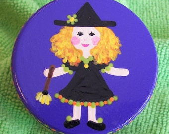 Hand Painted Love Boxes Halloween Witch Box Wood
