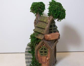 On sale was 9.95 Miniature garden Tree house with moss: Fairy, gnome, terrarium house