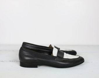 90s ANN TAYLOR LOAFERS studio leather size 7 1/2