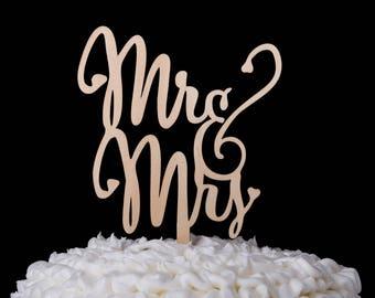 Mr & Mrs Wedding Cake Topper, Wooden Wedding Cake Topper, Wood Cake Topper, Rustic Cake Topper Monogram, Rustic Wedding Decorations