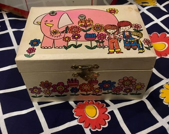 70s Kids Jewelry Box