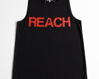 The REACH / ESCAPE Parkour Singlet - Black with Infrared print
