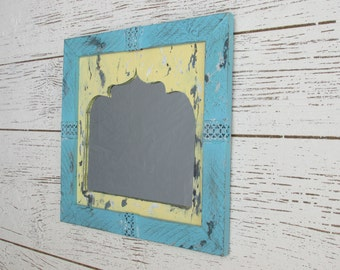 Boho wall mirror - decorative wall mirror -rustic - feng shui