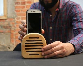 PEMBI wooden speaker, phone speaker, iPhone 6/6s speaker, iPhone loudspeakers, iPod touch speaker