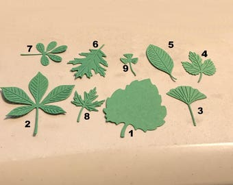 Die Cut Leaves Set of 9