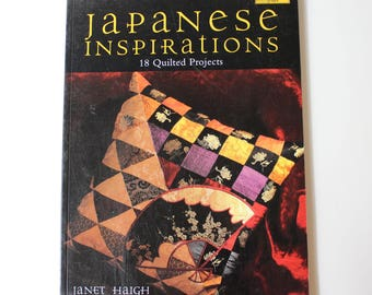 Japanese Inspirations Quilt Book, 18 Quilted Projects, by Janet Haigh, Martingale Press,  Quiltsy Destash Party