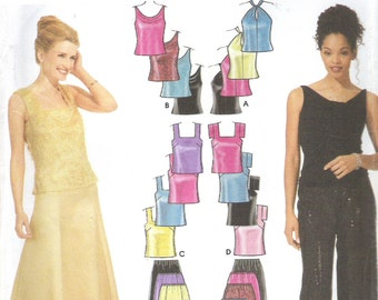 2001 Sewing Pattern - Simplicity 9833 Pants skirt tops Size 4-10 Uncut, Factory Folded