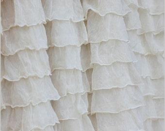 Ivory Crib Skirt - Cream Bedskirt - Girl Nursery Bedding - Crib Skirt Girl - Long Crib Skirt- Ivory Ruffle Crib Skirt- White Crib Skirt
