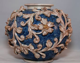 Traditional Sicilian Baroque Vase