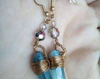 """Earrings """"Blue Aura"""""""