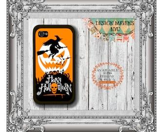 Witchy Poo Halloween iPhone Case, Orange Halloween iPhone Case, iPhone 8, 8 Plus, iPhone 7, 7 Plus, iPhone 6, 6s, 6 Plus, SE, iPhone 5, 5c