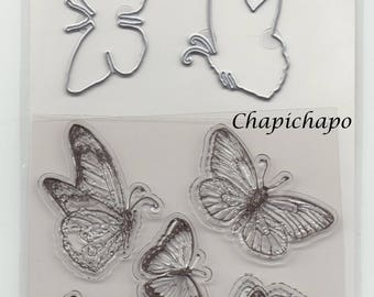Scrapbooking * Clear Stamps and Dies * clear stamps and dies cuts * butterfly *.