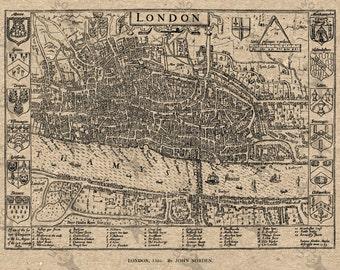 Antique map of London Instant Download image printable picture  for scrapbooking, decor,  prints, etc HQ 300dpi