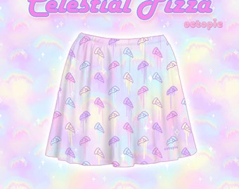 "Pastel ""Celestial Pizza"" Skirt"