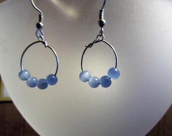 Periwinkle Beaded Earrings