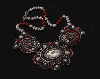 """Soutache necklace """"Aurelia"""""""