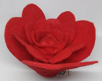 Red Rose Flower Cat Toy with catnip/valerian