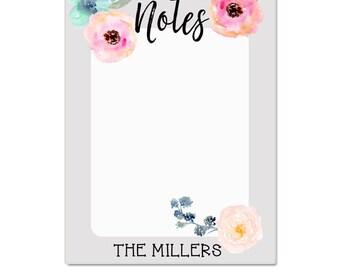 Personalized Dry Erase Board - Custom Gifts- Dorm Room Decor- Memo Board - Floral Memo Board