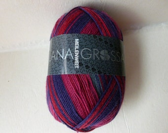 Sale 20% off Maroon, Purple and Grey 6707 Meilenweit  Bronx by Lana Grossa Yarns