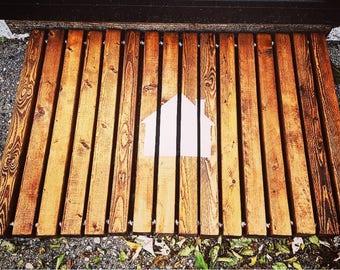 Wood doormat   Etsy