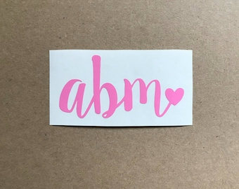 Monogram Decal   Monogram Sticker   Initials Decal   Car Decal   Laptop Decal   Personalized Decal   Tumbler Decal   Phone Decal