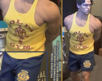 1/6 scale XXL sports clothing set inspired by Schwarzenegger Pumping Iron: fit larger figures like Phicen M34, TBLeague M35, Hot Toys TTM 20