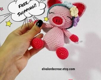 Pippa Pig/crochet/handame/Amigurumi