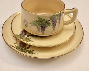 Purple Grapes Satsuma Tea Set