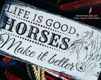 Gift for Horse Lovers, Horse Gifts, Equestrian Gifts, Horse Sayings, Horse Gifts for Her, Horse Sign, Horse Gifts Canada, Horse Lover Gifts