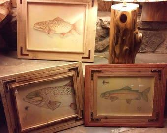 Rustic Fish Drawings