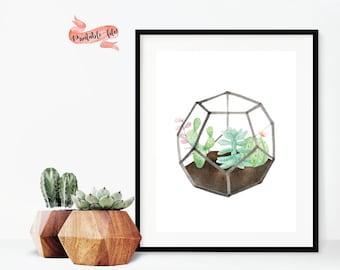 Succulent Digital Download for Print, Office Decor, Printable Art