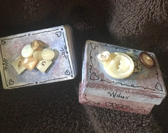 Petite hand painted boxes