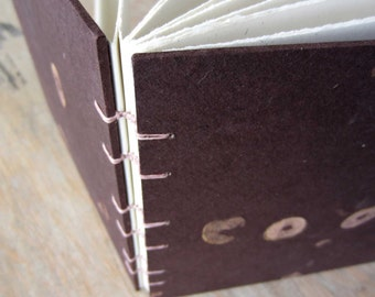 7.4 inch Natural Guest Book, unlined hand-torn pages, Ready to Ship