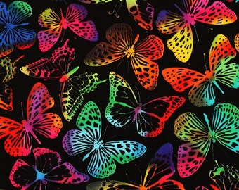 Timeless Treasures Butterfly Cotton Fabric by the Half Yard