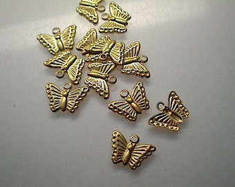 18 tiny butterfly charms
