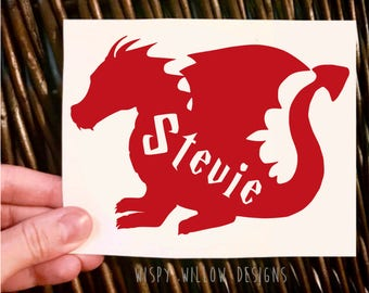 Dragon Name Vinyl Decal, Dragon Decal, Personalized, Name, Yeti Decal, Name Decal, Boy, Car Decal, Sticker, Dragon, Personalize, Name